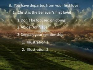 deoarted from first love - obedient disciples in the marketplace