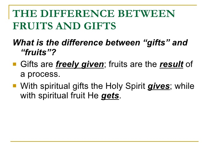 difference between fruit and gifts five fold ministry gift test