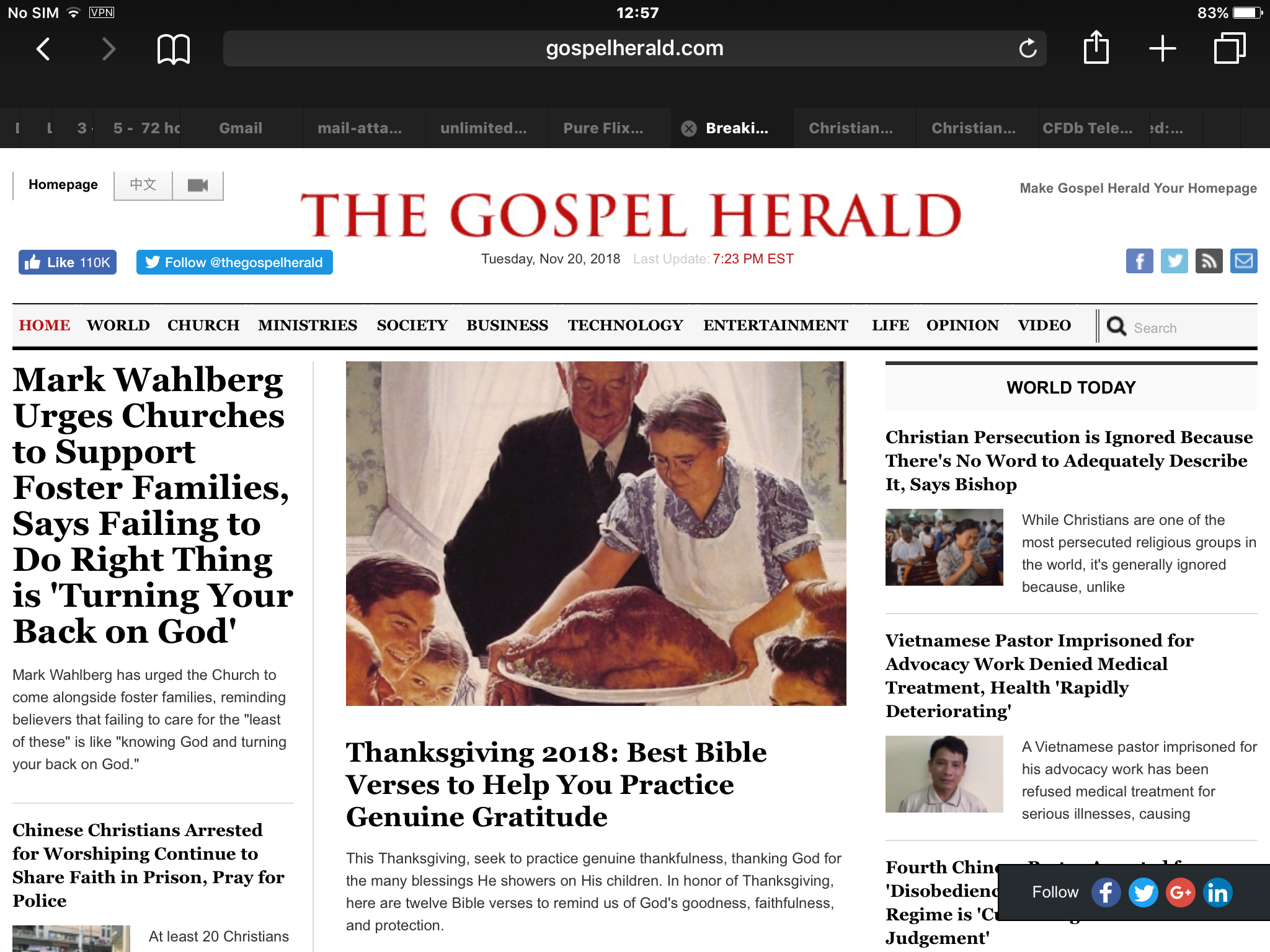 Christian News and Views All in One place