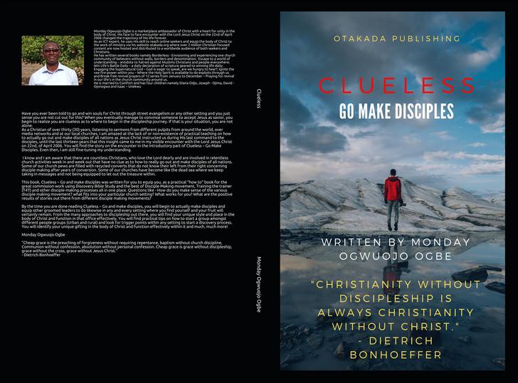 Clueless Go make disciples on Amazon, okadabooks.com and shop.otakada.org