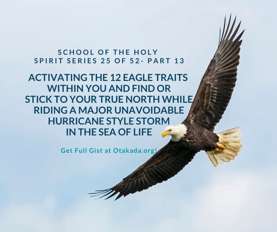 Weekly Motivation and Inspirational Stories for the Marketplace Series 25 of 52 - School of the Holy Spirit Part 13 - Activating the 12 Eagle Traits Within You and Find or Stick to Your True North while Riding a Major Unavoidable Hurricane Style Storm in the Sea of Life