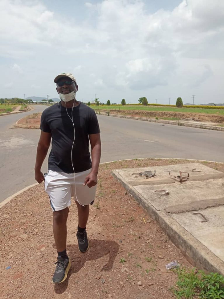 Monday Ogbe Exercising 16.5km