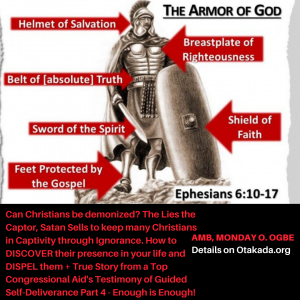 Enough is Enough to Captivity of Satan and Welcome to the Freedom in Christ – Can Christians be demonized? The Lies the Captor, Satan Sells to keep many Christians in captivity through Ignorance