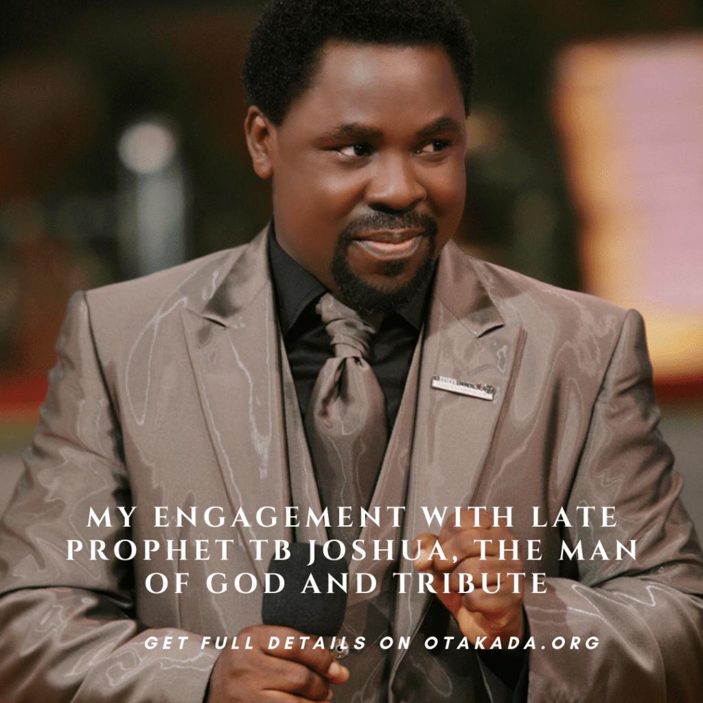 Tribute to Late prophet TB Joshua