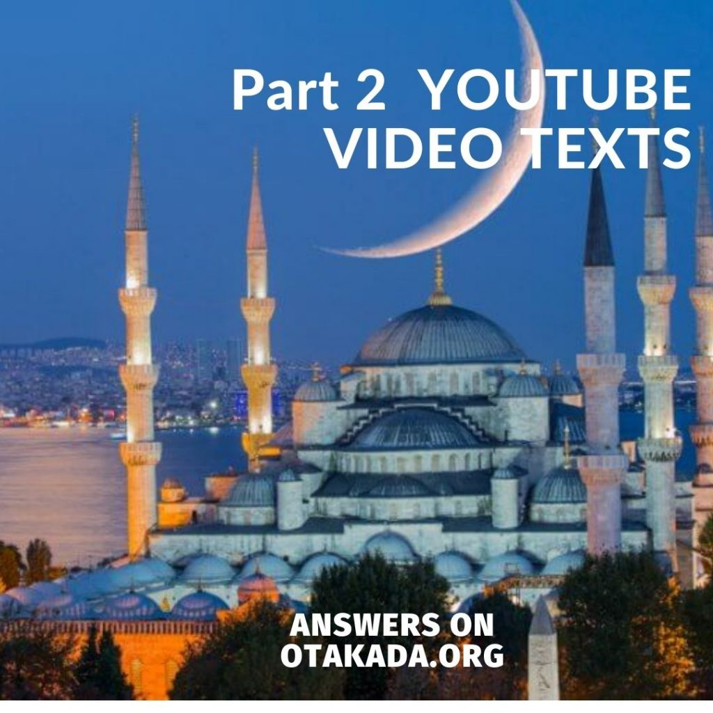 Part 2 - YOUTUBE VIDEO TEXTS